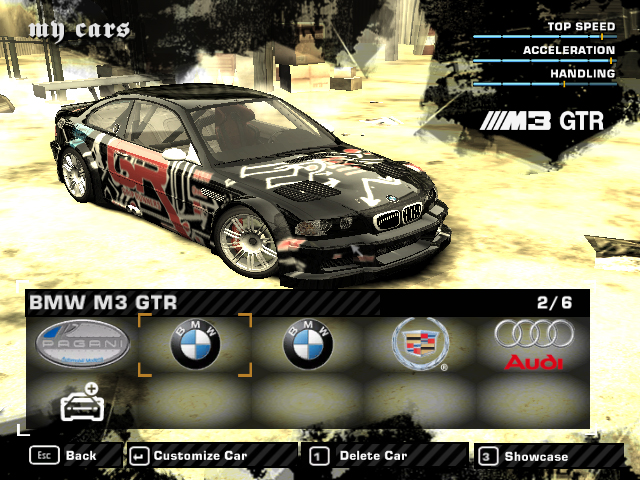 bmw m3 gtr nfsmw. Car: BMW M3 GTR. Description: