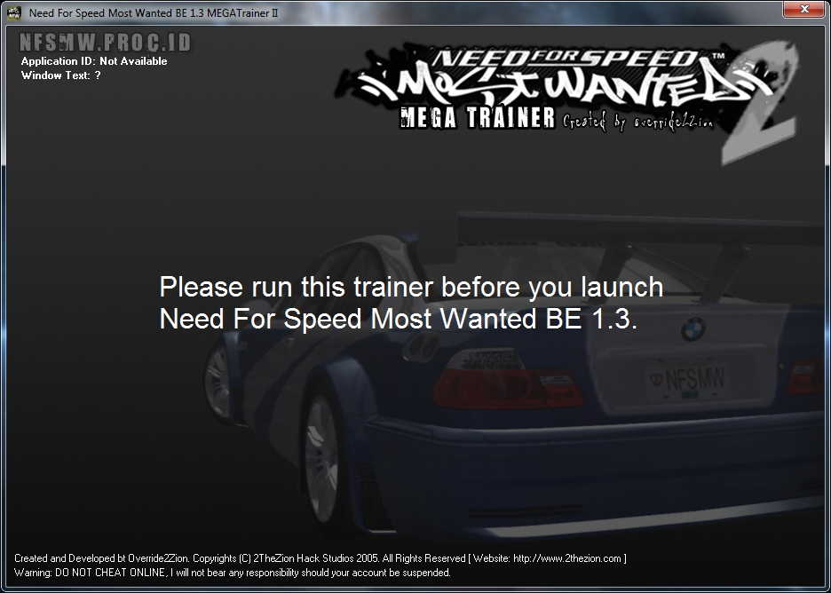 Screens Zimmer 9 angezeig: download trainer for nfs most wanted