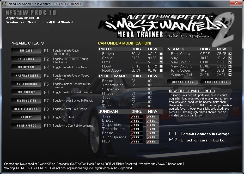 nfs most wanted v1 3 trainer