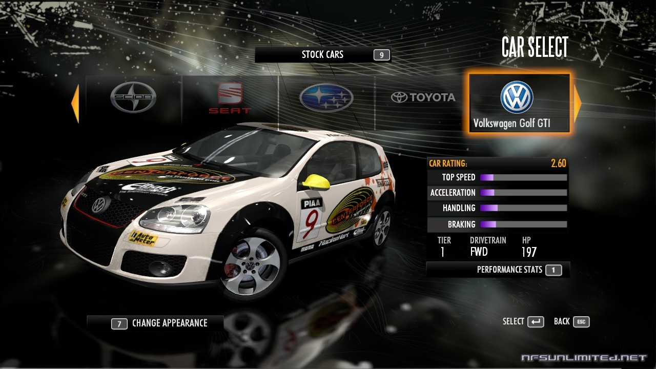 Need for Speed Shift Car List - NFSUnlimited.net Need for ...