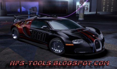 Bugatti Veyron For NFS Carbon