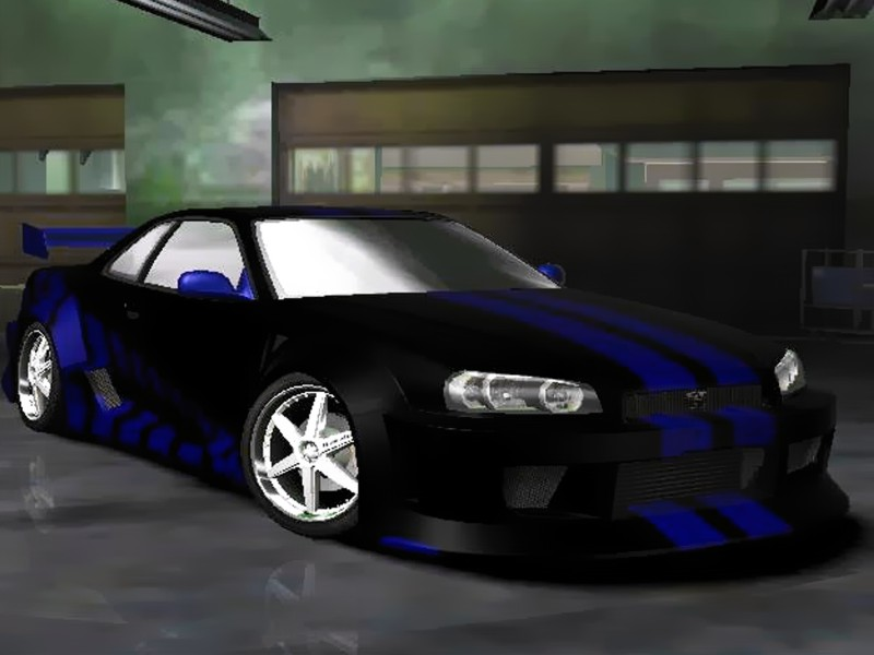 skyline r34 blue. Black 2F2F Skyline R34