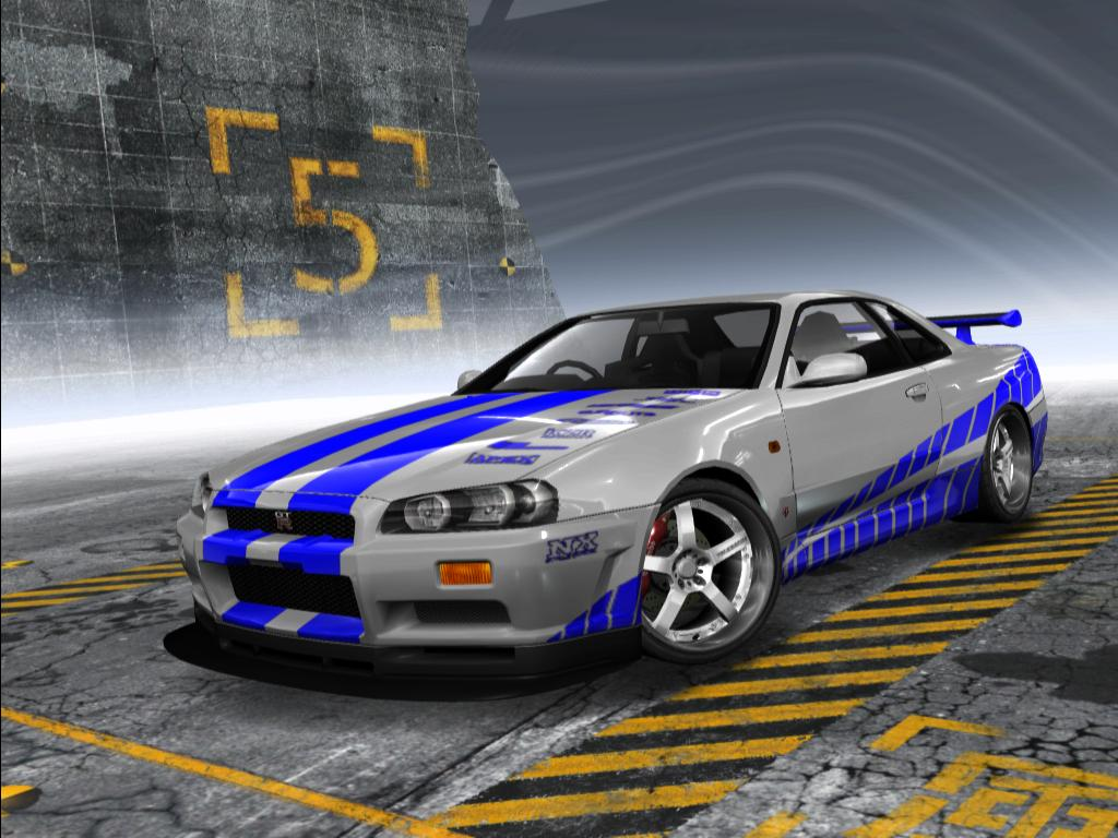 Fast 2 Furious Brian O Conner S Nissan Skyline R34 Gt R