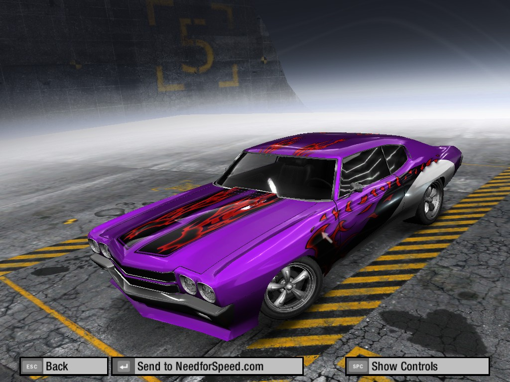 Purple Retro Chevelle