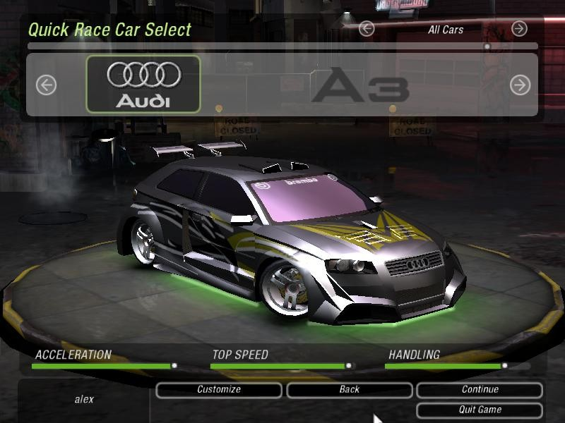 I miss underground/MW-style body kits in this game